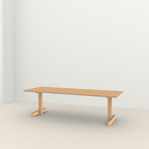 Rechthoekige design tafel op maat | Base Tafel Eiken hardwax olie naturel light 3041 | Eiken hardwax olie naturel light 3041 | Studio HENK | Listing_image
