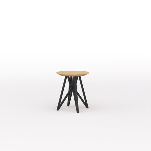 Design salontafel | Butterfly Quadpod Coffee Table Black | Oak hardwax oil natural 3062 | Studio HENK | Listing_image