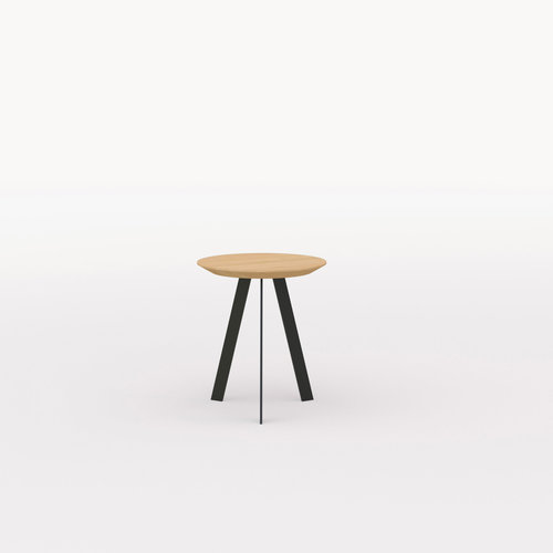 Design salontafel | New Co Coffee Table 40 Round Black | Oak hardwax oil natural 3062 | Studio HENK | Listing_image